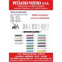 Eloxované farebné guľôčkové pero + gravírovanie textu a loga